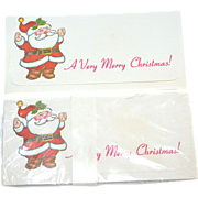 SALE Unused Set of 10 Christmas Santa Money Holder Envelopes