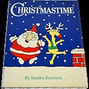 SALE 1987 Christmastime by Sandra Boynton First Edition Hardcover Book w/ DJ