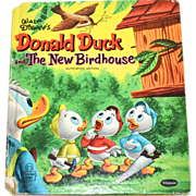 SALE 1956 Walt Disney Donald Duck and the New Birdhouse Tell-A-Tale Hardcover Book