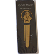 SALE 18K Gold Plated Monkey Bookmark in Original Package