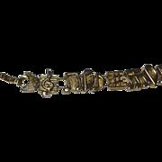 SALE 1995 TOFA Double Slider Music Note Goldtone Bracelet