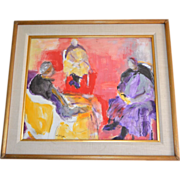 SALE Irving Lehman 20th C Russian-American Artist Original Abstract Expressionist Gouache ...