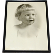 SALE 1950 Darling 'Mary Constance' Original Baby Girl or Toddler 11x14 Large Photo