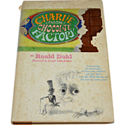 SALE 1964 Charlie and the Chocolate Factory First Edition Hardcover Book with Dust Jacket