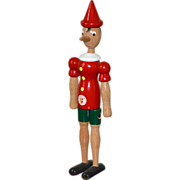 """SOLD Italian Pinocchio 12.5"""" Handcrafted Wood Articulated Puppet"""