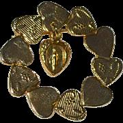 SALE Holy Virgin Mary Catholic Heart Circle Pin