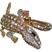 SALE Gorgeous Gator Sparkly Rhinestone Clamper Bracelet