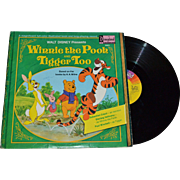 SALE 1974 Disneyland Winnie the Pooh and Tigger Too LP Record w/ Illustrated Book