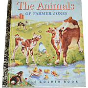 SALE 1992 The Animals of Farmer Jones 50th Anniversary Little Golden Book