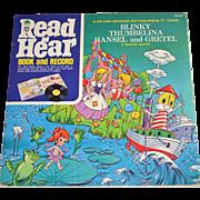 SALE 1972 Read N Hear Thumbelina, Hansel & Gretel, Blinky the Boat LP Record w/ Storybook