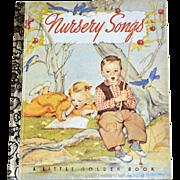 SALE 1992 Nursery Songs 50th Anniversary Little Golden Book