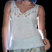 SALE Wonder Maid White Lace Cotton Blend Camisole ~ Size 36