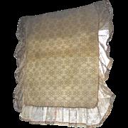 SALE Set of 2 Beige Crochet Lace & Pink Velvet Trim Standard Pillowcases
