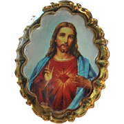 SALE Jesus Christ Sacred Heart Small Religious Tie Tack Pin
