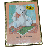 SALE NOS Antioch Bookplates Set of 50 Teddy Bear Gummed Labels SEALED in Box