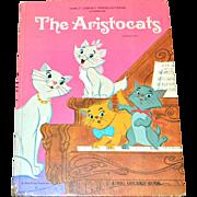 SALE 1970 Walt Disney THE ARISTOCATS Big Golden Book ~ Hardcover First Edition
