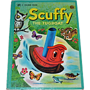 SALE 1974 Scuffy The Tugboat Big Golden Book ~ Hardcover, Second Printing
