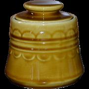 SALE 1970s Homer Laughlin Golden Harvest Covered Sugar Bowl