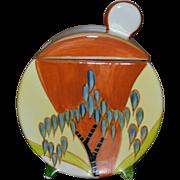 SALE 1993 Metropolitan Museum of Art Clarice Cliff Reproduction Jam Pot Windbells Pattern