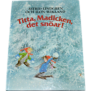 SALE 1983 Astrid Lindgren TITTA, MADICKEN DET SNOAR! First Edition Swedish Hardcover Book RARE