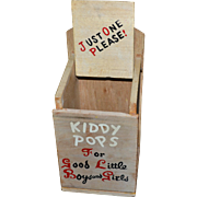 SALE Rustic Advertising KIDDY POPS For Good Little Boys and Girls Wood Lollipop Holder