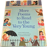 SALE Circa 1968 'More Poems to Read to the Very Young' Oversized Hardcover Children's Book