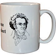 SALE Signed Albert Elovitz Collectible Franz Schubert Music Inspired Coffee Mug