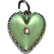 SALE Wells Sterling 'Amulet of Faith' Mustard Seed Matthew 17:20 Puffy Heart Charm