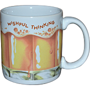 SALE American Greetings WISHFUL THINKING Frothy Beer Ceramic Mug