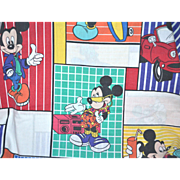 SALE DISNEY Cool Mickey Mouse Double Size Flat Sheet
