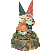 SALE Enesco Gnome Klaus Wickl 'Anniversary Waltz' Rotating Music Box