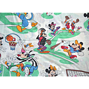 SALE Pacific DISNEY Sports Mickey Mouse Twin Flat Sheet