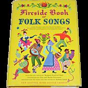 SALE Fireside Book of Folk Songs Hardcover Songbook w/ DJ Guitar Chords Edition