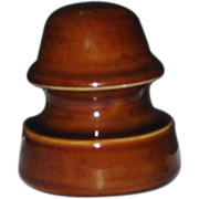 SOLD Porcelain Telephone Wire Insulator, Lapp 1929, Cocoa Brown
