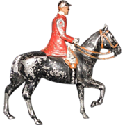 1950s Britains Lead Fox Hunter Figure, Articulated