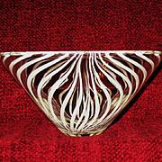 Kumela of Finland Hand Blown Art Glass Bowl