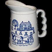 Metlox Poppytrail Pitcher, Blue Homestead Provincial Pattern