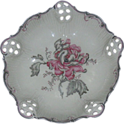 Rosenthal Reticulated Footed Bowl, Moliere, Silver Enamel Trim