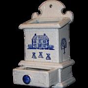 Metlox Poppytrail China Match Safe, Blue Homestead Pattern
