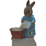 Beatrix Potter Cecily Parsley Figurine by Beswick, BP2A with Original Foil Sticker