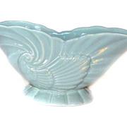 Haeger USA 3416 Turquoise Bowl Ceramic PLANTER Bowl Shell Design