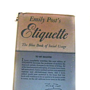 REDUCED Emily POST'S Etiquette Book Revised 1947 Post War FABULOUS