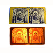 *rare* Stereo Card TISSUE PAPER 1850's Rome St. Pierre