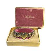 La Mode Sweetheart Bracelet Expansion HEART 1943 Original Box