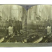 Stereo Card Westminster Abbey STEREOVIEW Keystone View Company PERFECT