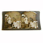 "SOLD Stereo View Card ALBUMEN Ladies 1900 E W Kelley Rau ""A Dainty Toilet"""