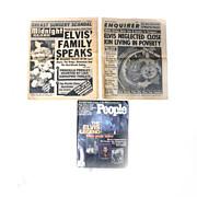 Lot of 3 Elvis Presley TABLOID Enquirer Gossip PEOPLE Midnight Globe 1977-78