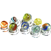 8 Vitro Agate Hybrid Marbles CATS EYE Aventurine WONDERFUL COLORS!
