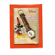 REDUCED Mickey Mouse Watch And Keychain NEW OLD STOCK Licensed RUNS GREAT!