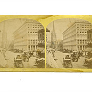Stereoview NYC Early Albumen Stereo Card Two Sided
